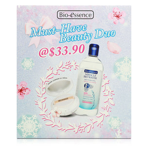 Bio-essence Miracle Bio Water Micellar Water 400ml + Sakura Cushion CC 15g+15g refill
