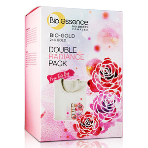 Bio-essence Bio-Gold Double Radiance Pack (Bio-Gold Rose Gold Water 100 ML + Bio-Gold Eye Power Illuminator 17 G)