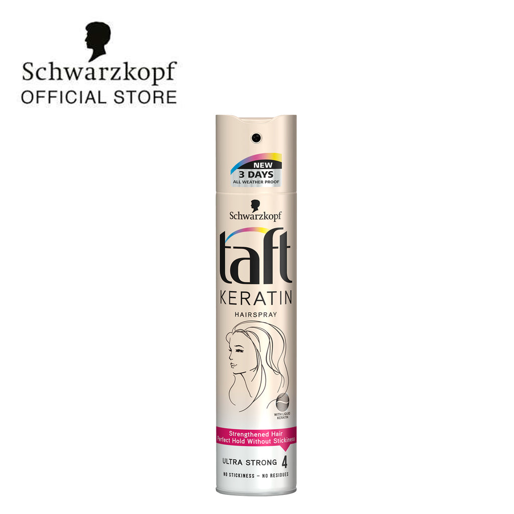 Taft Keratin Hairspray - Ultra Strong 250ml