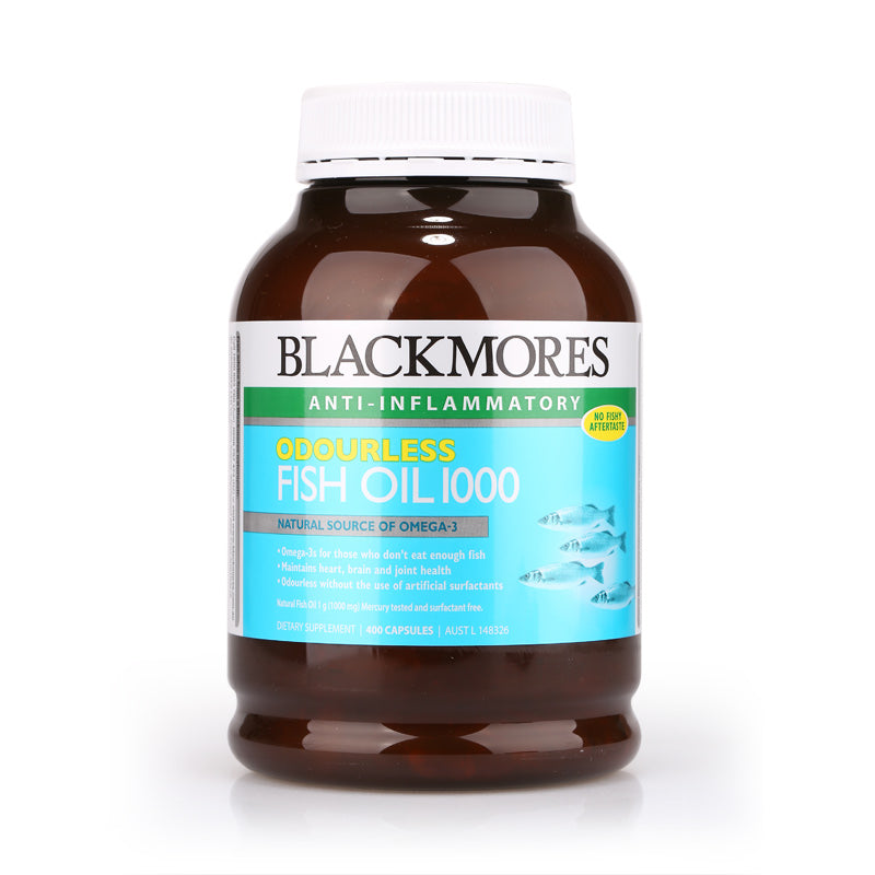 Blackmores Odourless Fish Oil 1000 400caps
