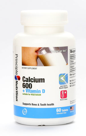 Principle Nutrition Calcium 600 + Vitamin D (35/60/230tabs)