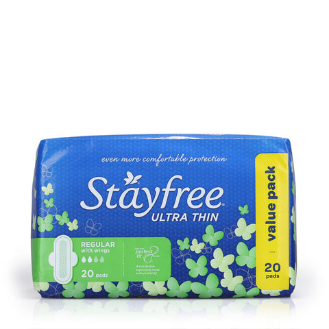 Stayfree Ultra Thin Regular Cottony Soft 20pcs