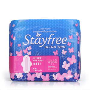 Stayfree Ultra Thin Super Cottony Soft 12pcs