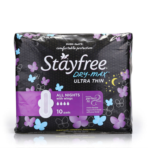 Stayfree Ultra Thin All Nights Dry Max 10pcs