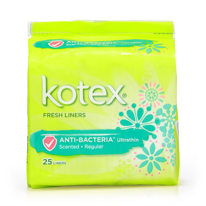 Kotex Fresh Liners Anti-Bacteria Ultrathin Scented 25pcs