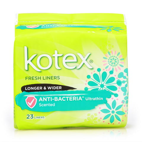 Kotex Fresh Liners Anti-Bacteria Ultrathin Unscented Longer & Wider 23pcs