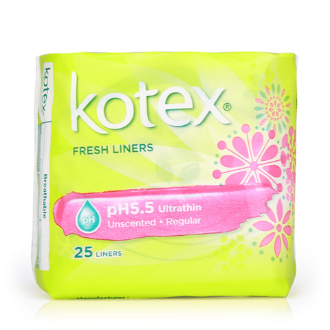 Kotex Fresh Liners pH5.5 Ultrathin Unscented 25pcs