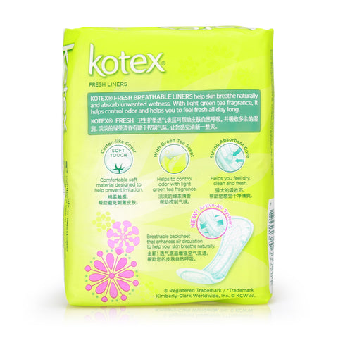 Kotex Fresh Liners Breathable Regular Scented 40pcs