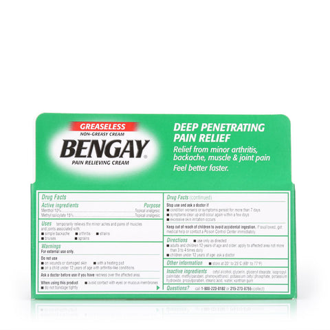 Bengay Non-Greasy Pain Relieving Cream 57g