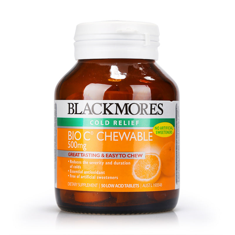 Blackmores Bio C Chewable 500mg 50tabs