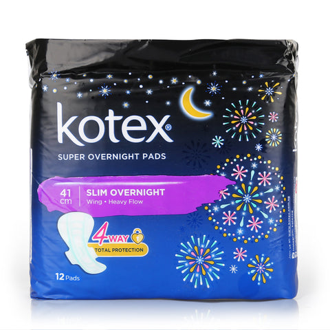 Kotex Sanitary Pads Super Overnight Slim Wing