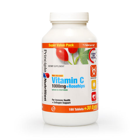 Principle Nutrition Vitamin C 1000mg Rosehips Time Release (35/60/210pcs)