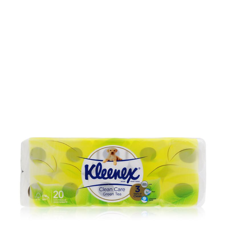 Kleenex Clean Care Bath Tissue Green Tea 20 x 200sheets