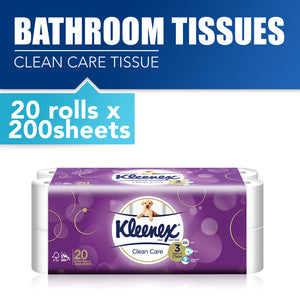 Kleenex Clean Care Bath Tissue 10x200sheets / 20 x 200sheets