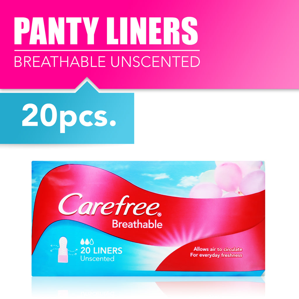 Carefree Breathable Unscented 20pcs