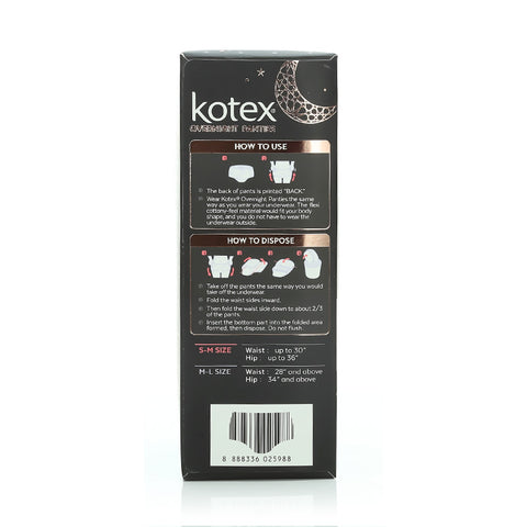 Kotex Overnight Panties 2 pcs