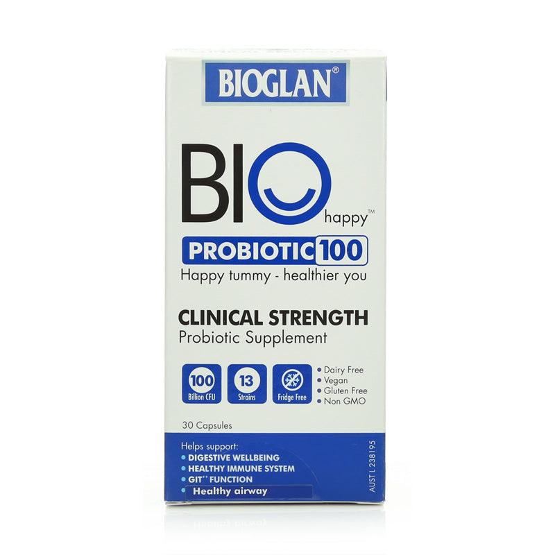 Bioglan Bio Happy Probiotic 100 Clinical Strength 30caps