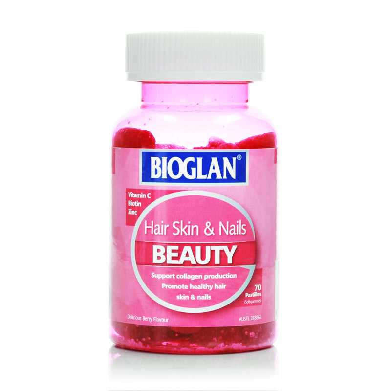 Bioglan Beauty Hair Skin & Nails Gummies 70 pastilles
