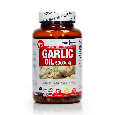 Principle Nutrition Garlic Oil 5000mg 100pcs