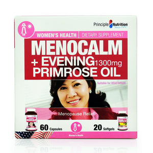 Principle Nutrition Menocalm 60pcs + Evening Primrose Oil 1300mg 20pcs