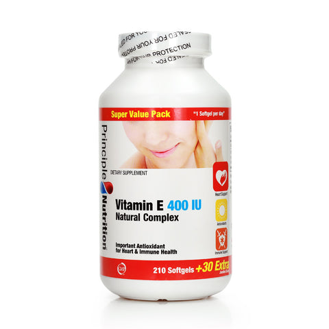 Principle Nutrition Vitamin E 400IU complex 210+30pcs