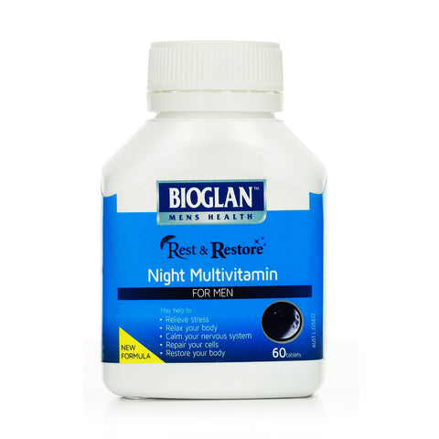 Bioglan Rest & Restore Night Multivitamin 60 tabs