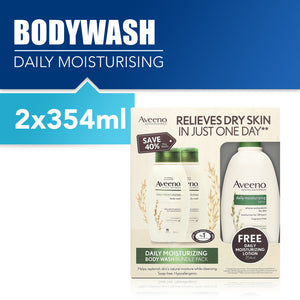 Aveeno Daily Moisturising Body Wash Bundle Pack 2x354ml