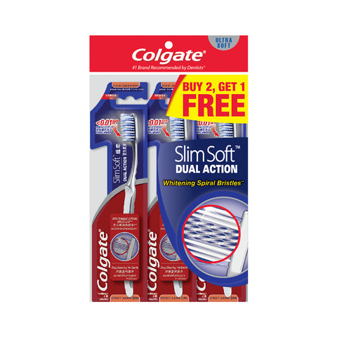 Colgate SlimSoft Extra Soft Toothbrush Buy 2 Free 1 x 3pc