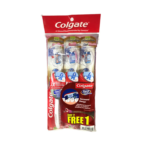 Colgate 360 Surround Medium / Soft Toothbrush Buy 2 Free 1 x 3pc