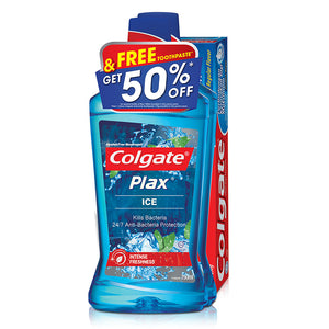 Colgate Plax Mouthwash 750ml Twinpack FREE Colgate 175g Toothpaste