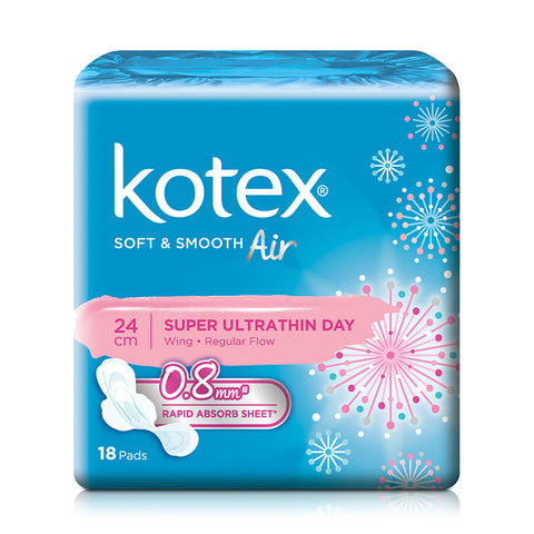 Kotex Soft & Smooth AIR Super Ultrathin Wing Day Pads 24cm 18pcs