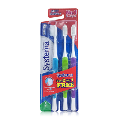 Systema Gum Care Toothbrush Compact Head Buy 2 Get 1 Free