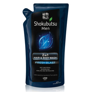 Shokubutsu Men 2-in-1 Hair & Body Wash Refill 550ml