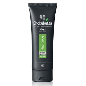 Shokubutsu Men Facial Foam (Recharge), 100ml