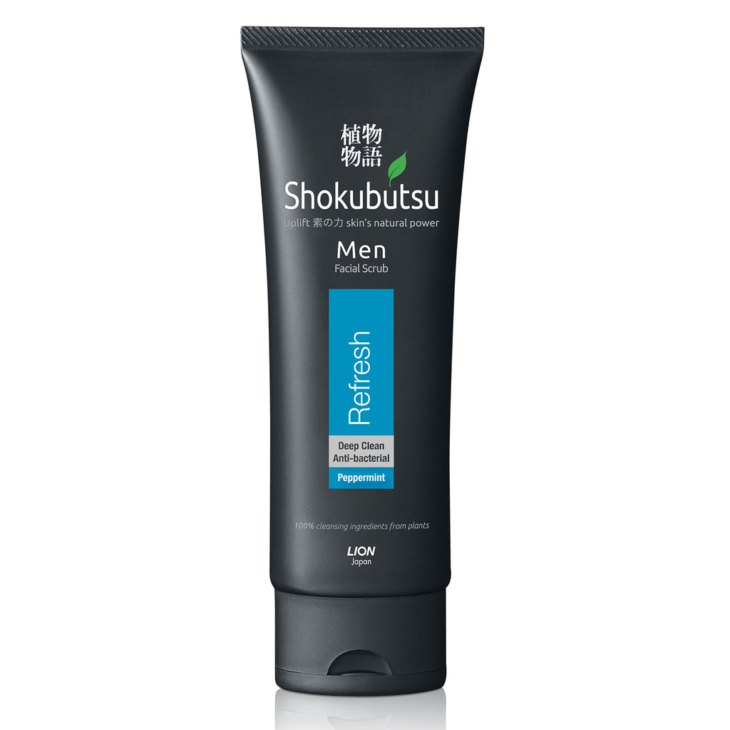 Shokubutsu Men Facial Scrub (Refresh), 100ml