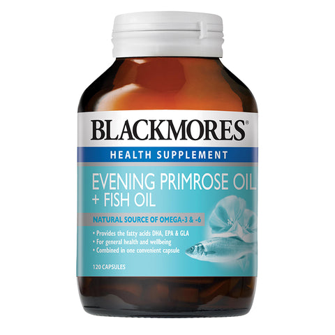 Blackmores Evening Primrose Oil + Fish Oil 30caps/120caps