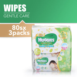 Huggies Baby Wipes Gentle Care (80sx3) 1pcs