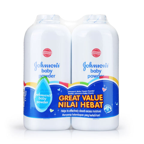 Johnson's Baby Classic Powder Twin Pack 500g x2