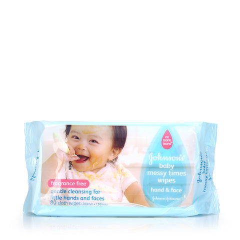 Johnson's Baby Messy Time Wipes 20s / 80s