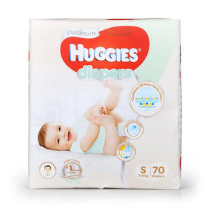 Huggies Platinum Diapers Tape S 70pcs