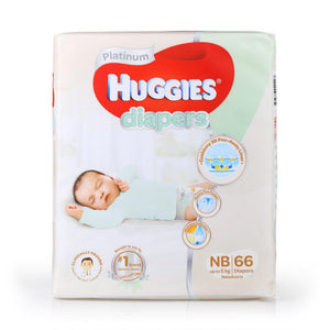 Huggies Platinum Diapers Tape NewBorn 66pcs