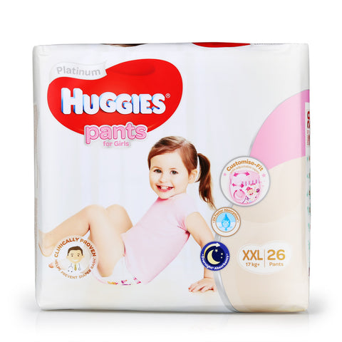 Huggies Platinum Diapers Tape / Pants size Newborn - XXL
