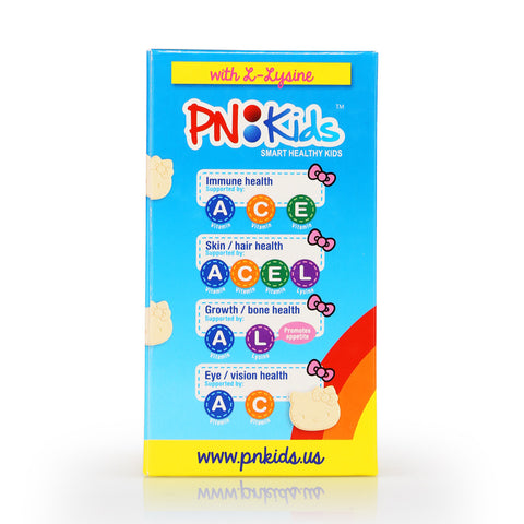 PN Kids Vitamins C with L-Lysine Chewable (Peach flavor) (12/70pcs)