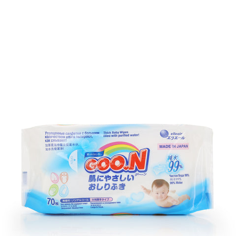GOO.N Baby Wipes Large and Thick 70sheets x 12packs
