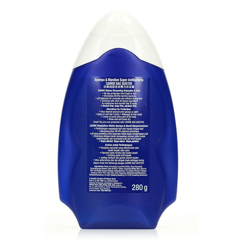 Carrie Bac Buster Antibacterial Super Hair & Body Wash 280g
