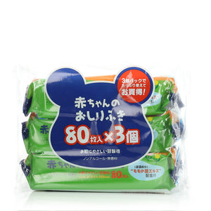 Showa Baby Wipes 3x80s