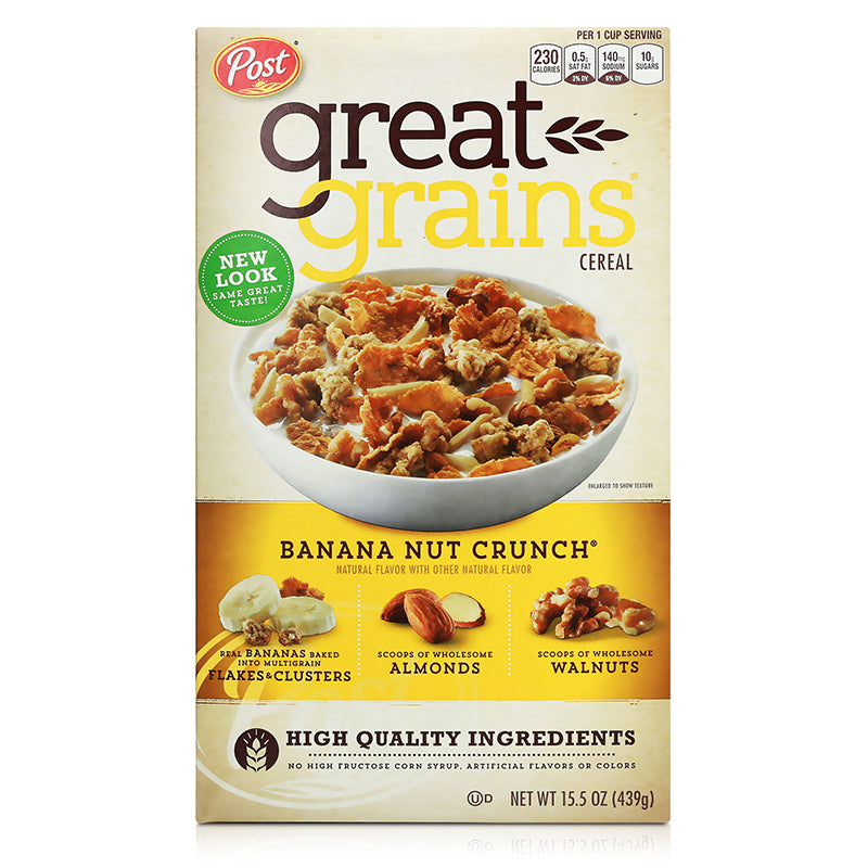 Post Selects Great Grains Crunch Whole Grain Cereal 439g (Banana Nut/Cranberry Almond/Crunchy Pecans)