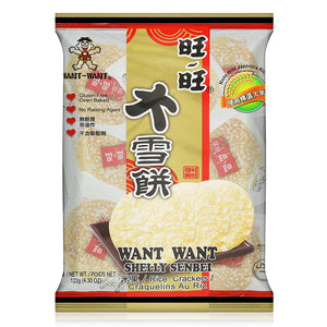 Want Want Shelly Senbei Rice Crackers 122g (Original/Spicy)