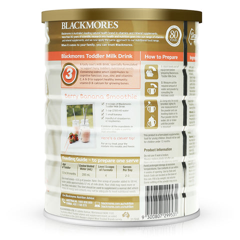 Blackmores Toddler Milk Drink 3 900g