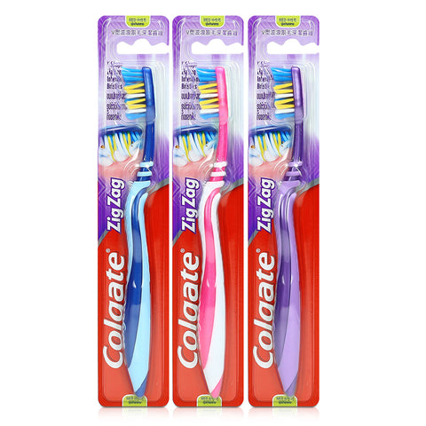 Colgate ZigZag B2F1 Medium / Soft Toothbrush Buy 2 Free 1 x 3pcs